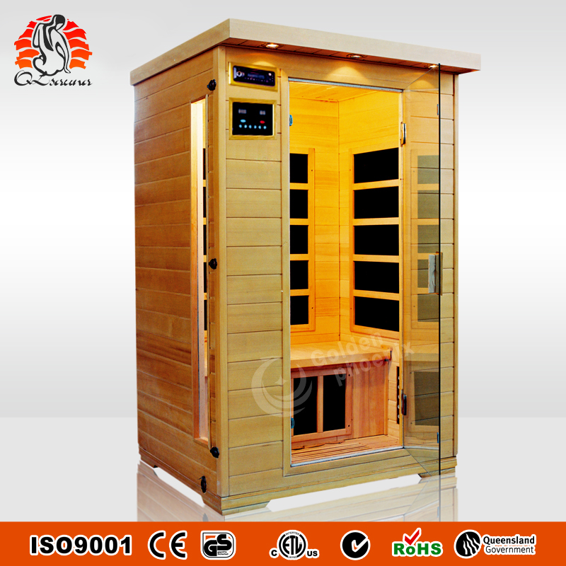 Nano Carbon Heater Sauna Cabins Infrared Sauna For 2 People Capacity G2D