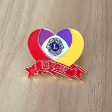 Attractive design metal pin badge for charity organization