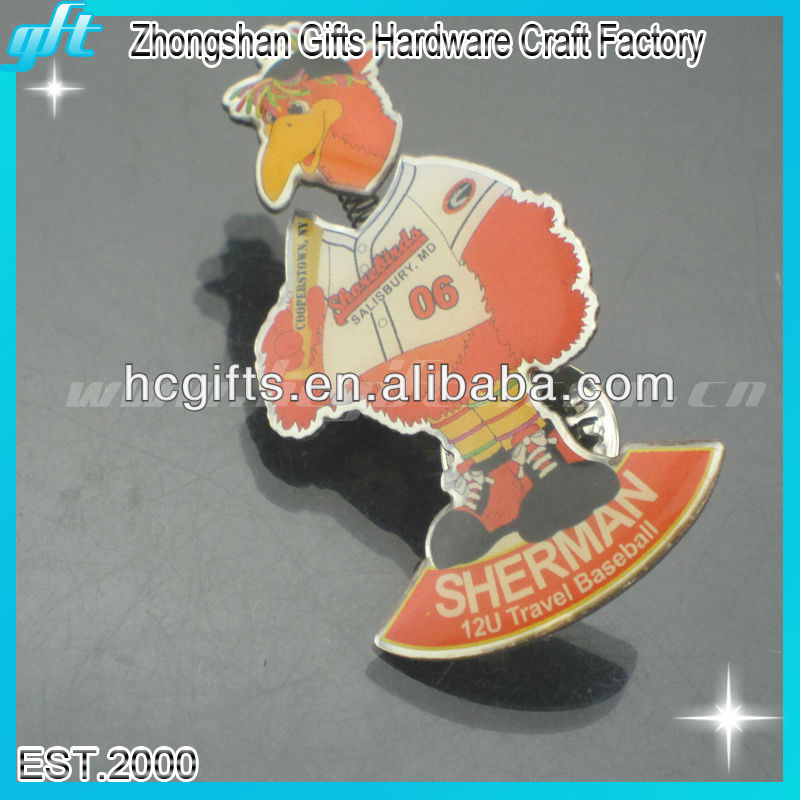 2013 new products cock badge lapel pin/new idea design shape cock badge lapel/cock badge lapel pin