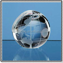 Crystal Cut Faceted Global Paperweight For Business Table Gifts