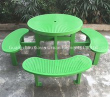 Commercial site furnishings outdoor steel table