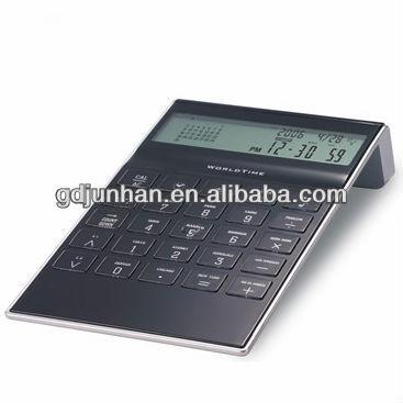 digital calculator with desk calendar clock