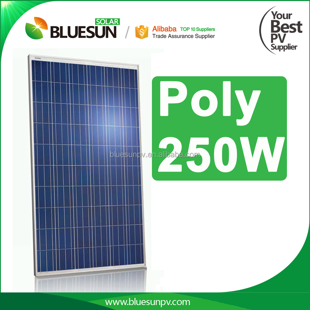 Bluesun poly 250w solar modules pv panel for solar power system home