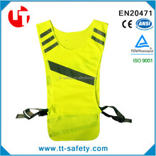 high visibility adjustable mesh LED reflective vest for running cycling jogging