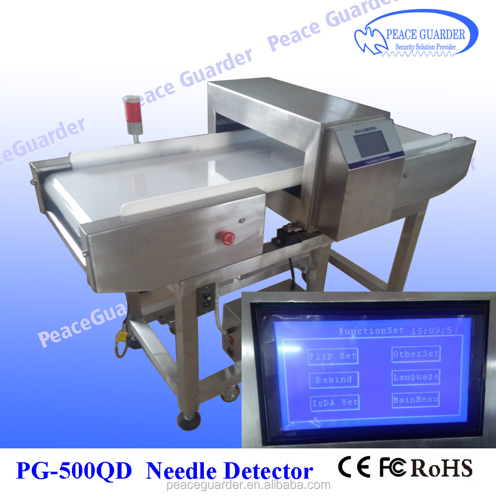 Conveyor Food Needle Metal Detector with Color touch LCD screen