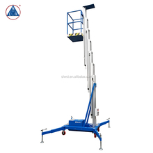 single mast aluminium electric vertical manlift platform