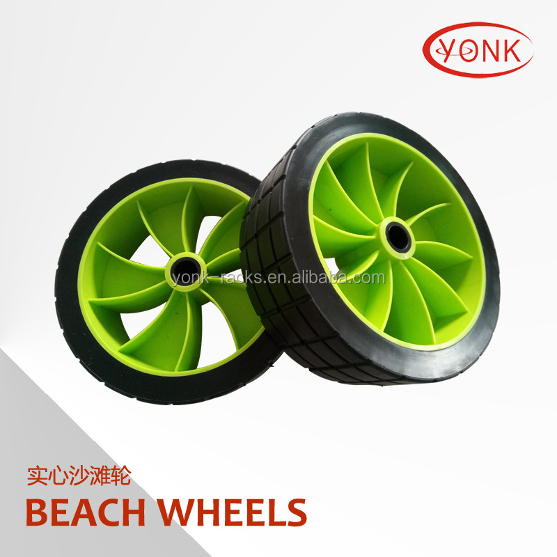 high quality Y05017 10&quot; PU foam rubber <strong>wheels</strong> Beach solid <strong>Wheel</strong> for beach cart