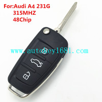 MS 3 button remote flip key 315mhz with 48 chip for audi A4 231G