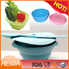 RENJIA silicone microwave collapsible bowl,silicone food storage box,silicone food bowl