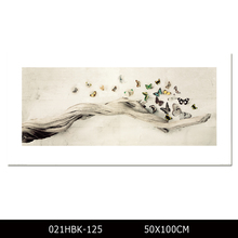 New Designed Kinds of Butterflies Painting Printed on Canvas Prints Modern Abstract Butterfly and Tree Wall Painting