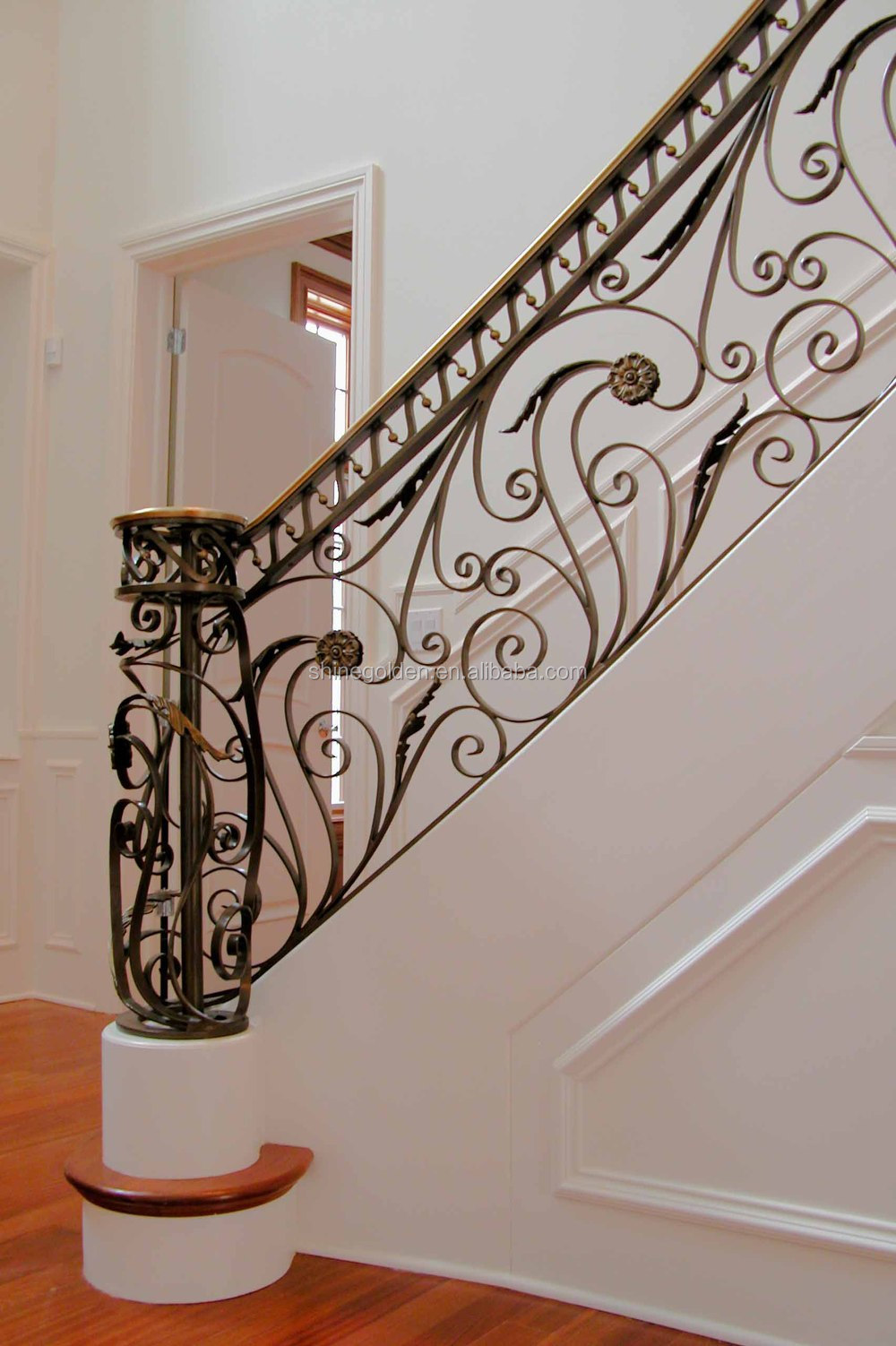 Ornamental and security curved interior banister GYD-15H0300