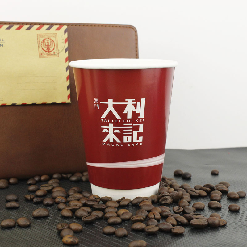 12oz biodegradable insulated wholesale disposable Cold drink takeaway paper coffee cup