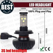 Auto parts 3000lm no fan g3s car h4 led headlight for motorcycle headlight