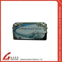 raised for customer's logo ,Acrylic Chrome ABS plastic License Plate Frame, american license plate holderfor bike ,car