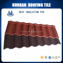 NUORAN environment lower price green house roof ,galvalume metal roof shingle price
