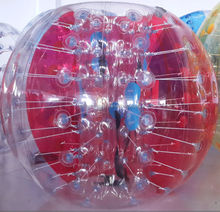 large clear crazy inflatable belly bump ball