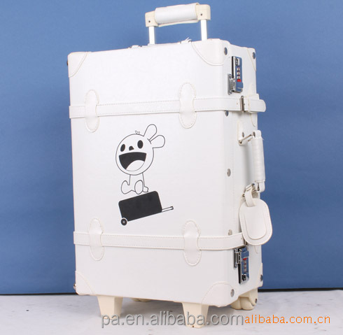 aluminum metal suitcase/ vintage trolley case / classic trolley