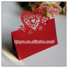 wholesale red Name Cards Table Place Mark paper cards Escort Cards 300pcs on alibaba