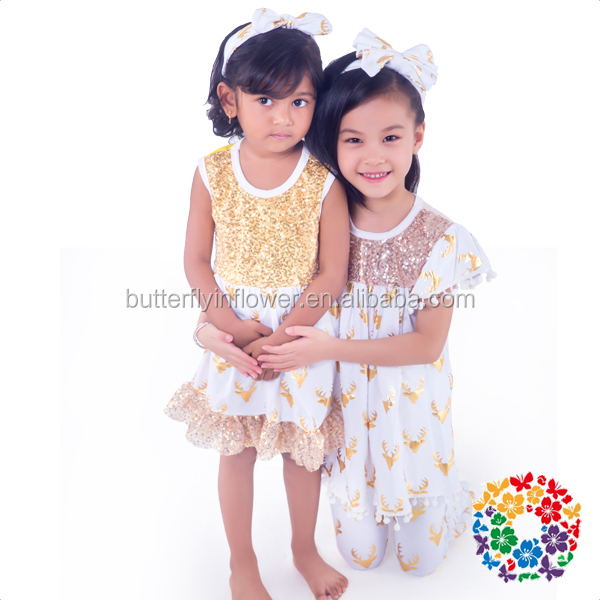Children Frocks Designs 2016 Western Party Wear Simple Design One Piece Party Dress For Baby Girls