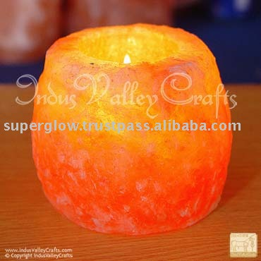 Himalayan Crystal Salt Tealight Holders