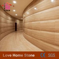 wall and floor used yellow wood travertine marble slab price