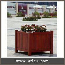 Arlau Movable Planter Trolley,Stainless Steel Base Hard Garden Set,Plant Pot Container