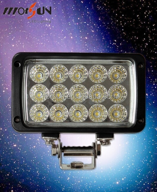 Square 45W truck and tractor working light, Spotlight LED epistar 12V auto worklight
