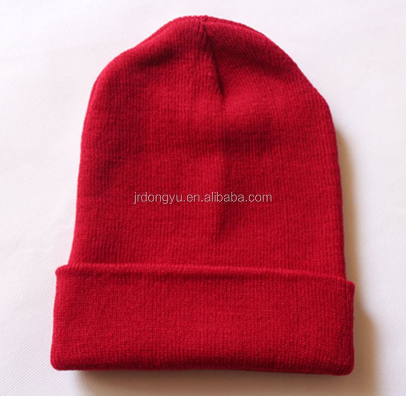100 Acrylic Knitted Hat With Skull Pattern Wholesale Knit Hat