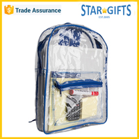Wholesale 30-40L Custom Printed Clear PVC Backpack With Adjustable Straps