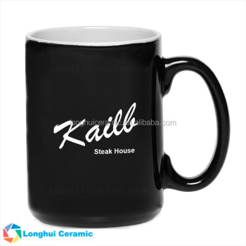 15oz El Grande promotional ceramic coffee mug with custom logo