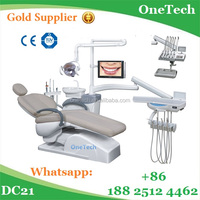 100% rotatable ceramic spittoon dental chair down/upstyle instrument tray / dental eequipment price DC21