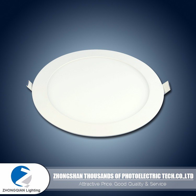 International standard 3w to 24w recessed ultrathin led panel light