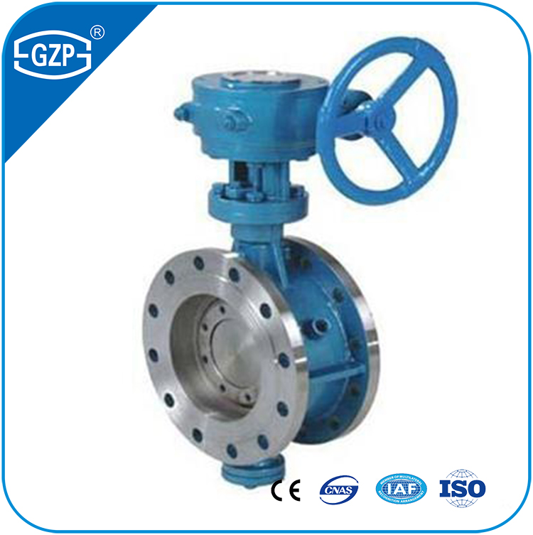 API Casting Stainless Steel Flanged End Manual Hand Wheel Gear Operated Butterfly Valve