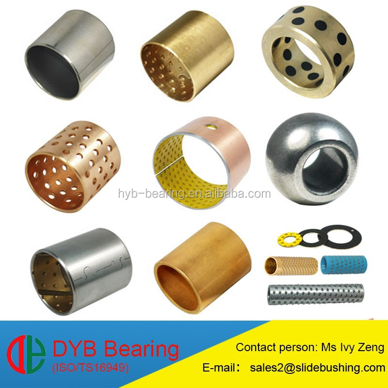 Wrapped bearing bush/SF-1 bearing made from Steel backing sintered bronze bush PTFE Bush/Teflon DU bushing Oiless bearing bush
