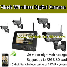 simple to install 4CH wireless cameras with dvr