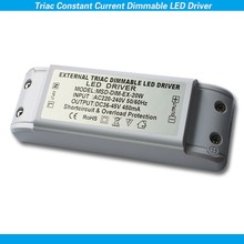 Noise free flicker TRIAC dimmable led driver 20W compatible to 0-220V dimming system such as lutron,dynalite,schneider,ABB
