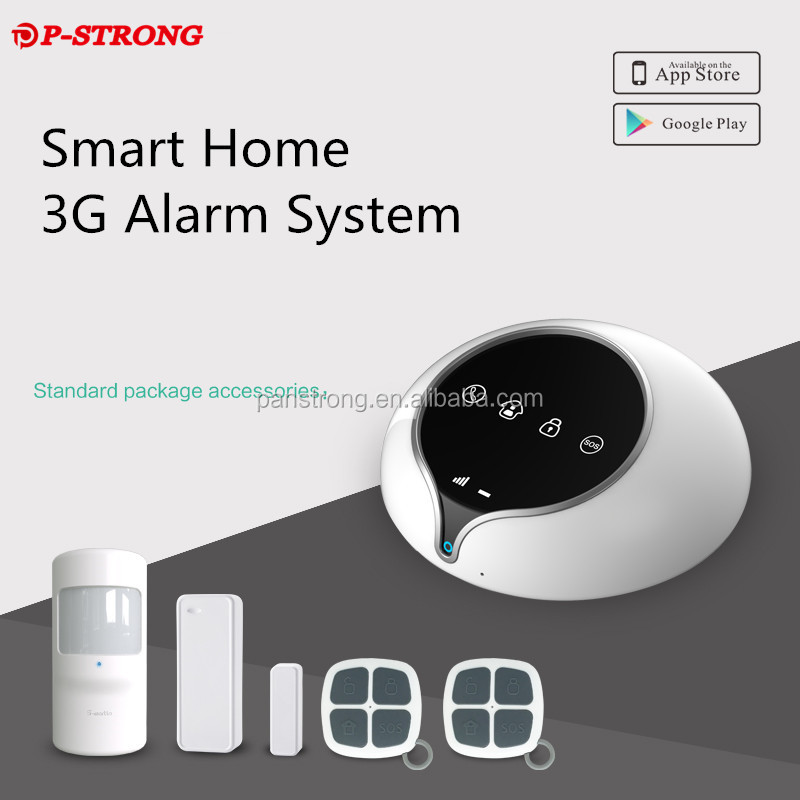 Support 16 Wireless Zone Support Doorbell Function Smart Home Alarm 3G SIM Card Security Camera
