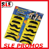 Party 12 Sets Synthetic fibre Black Fake Artificial Mustache