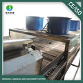 Blower air cooling conveyor with adjustalle speed