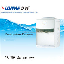 Plastic mini bottled water dispenser with hot and cold water