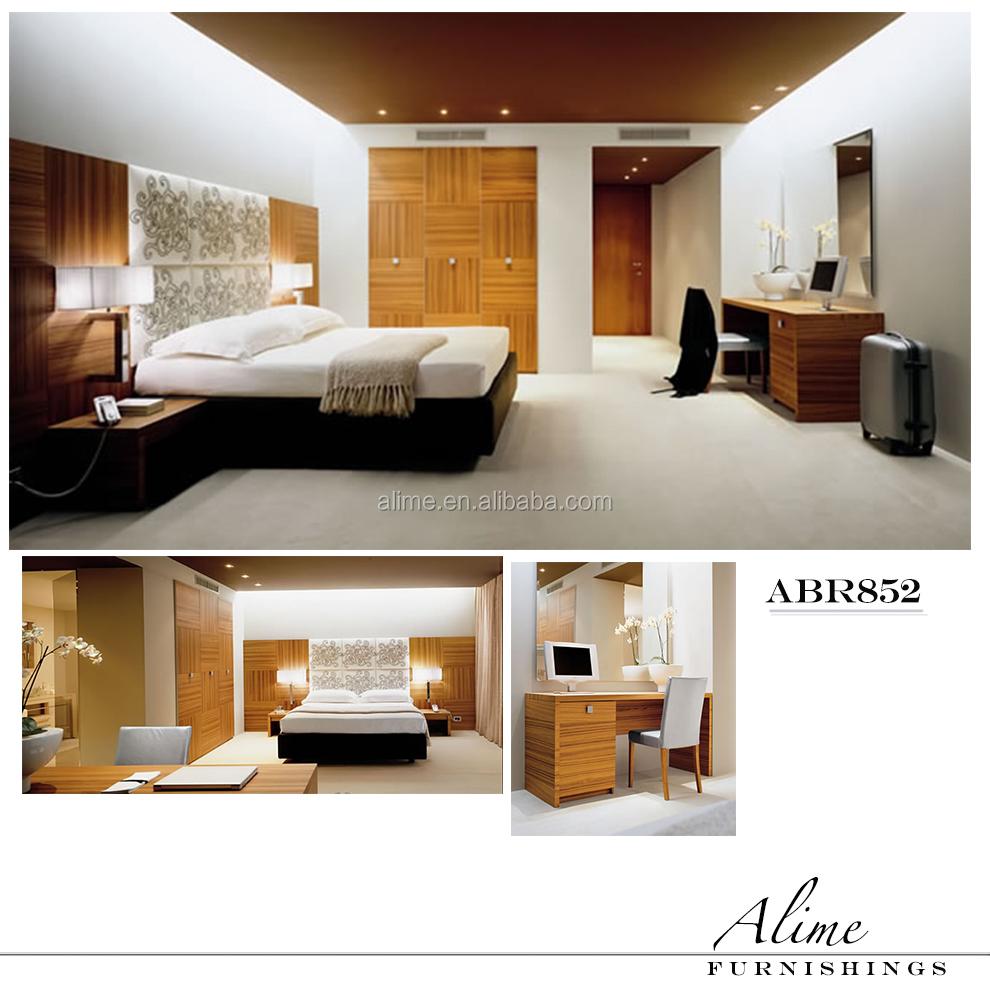 Alime custom modern mdf veneer hotel bedroom furniture sets foshan manufacturer for bespoke for Hospitality bedroom furniture