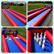 Direct factory skittles game human bowling alley for sale