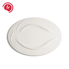 Factory direct selling white plastic melamine phoenix egg shape <strong>flat</strong> plate dish