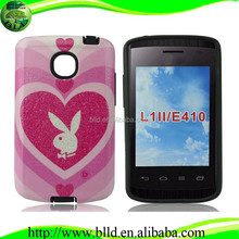 Wholesale tpu pc case cover protector para celulares for LG Optimus L1II E410