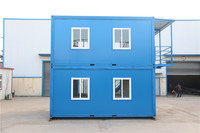 convenient loading and shipping dining prefabricated fireproof prefab container cabins with heat insulation