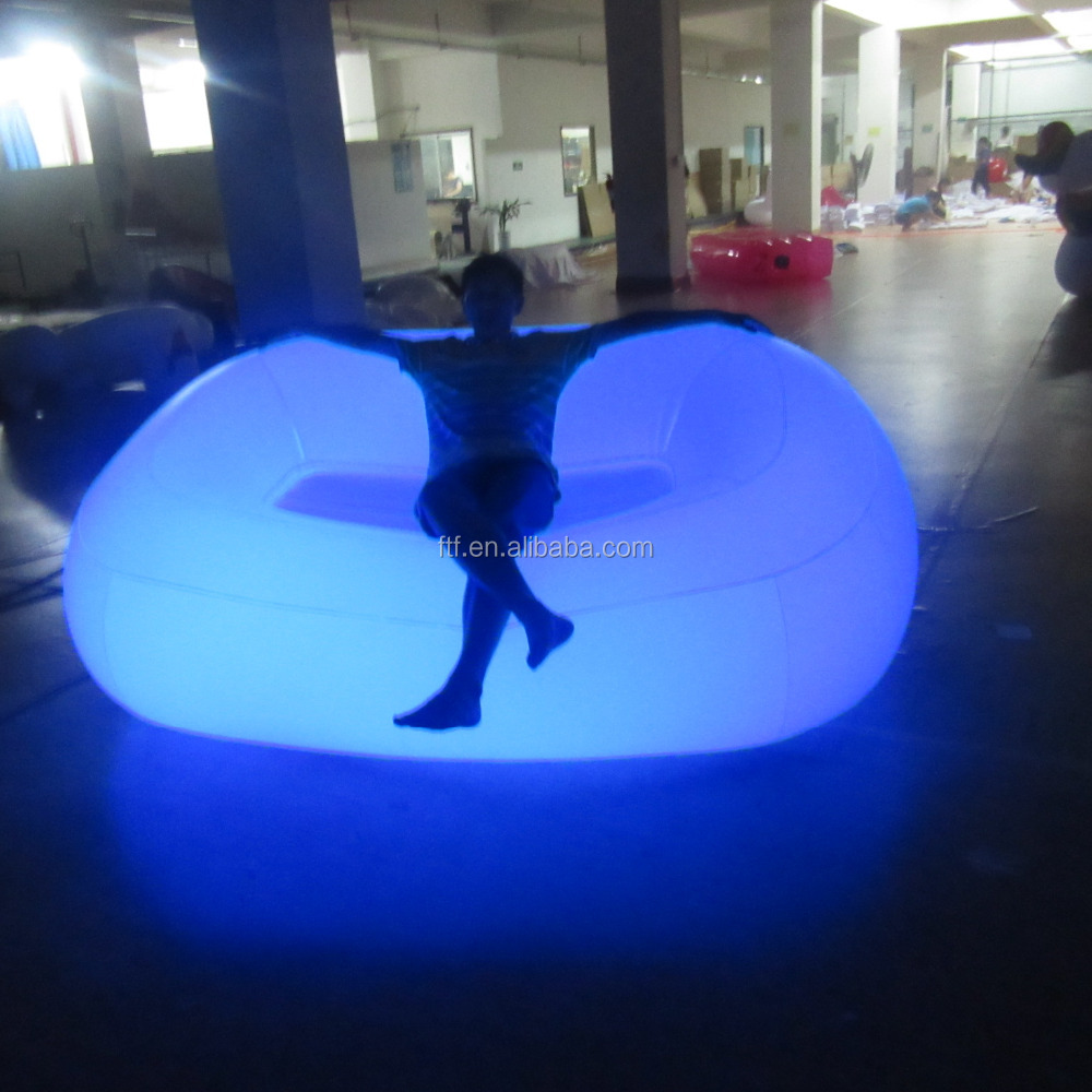 2016 LED inflatable sofa/ inflatable sofa with led light