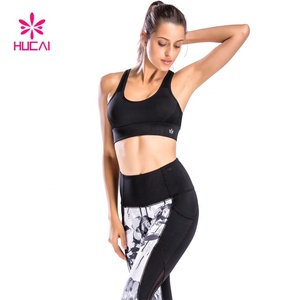 China Manufacturer Sports Wear Fitness Clothing Athletic Apparel Women Printed Sport Bra And Yoga Pants Set