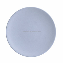 natural environment material bamboo fiber 9 inches dinner plate customizable color plastic nattier blue round plate