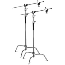 "2920cm 3M Light Stand 20KG Silver C stand 11ft Double Riser Century C Stand kit with gobo head 40"" grip"
