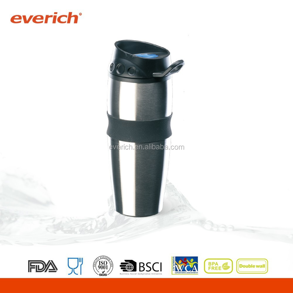 Stainless Steel Thermo Travel Mug With Silicone Sleeve
